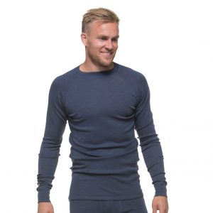 North Outdoor Miesten Active 210 Aluskerraston Merino Paita, Navy