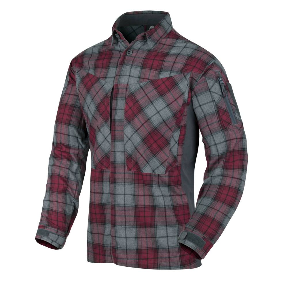 Helikon-Tex MBDU Flannel shirt, Ruby plaid